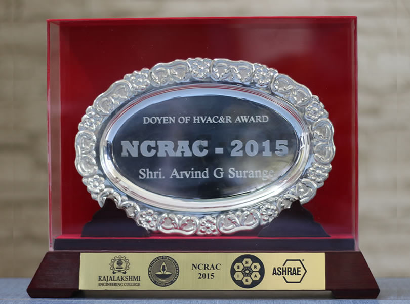 Doyen of HVACandR Award by NCRAC 2015