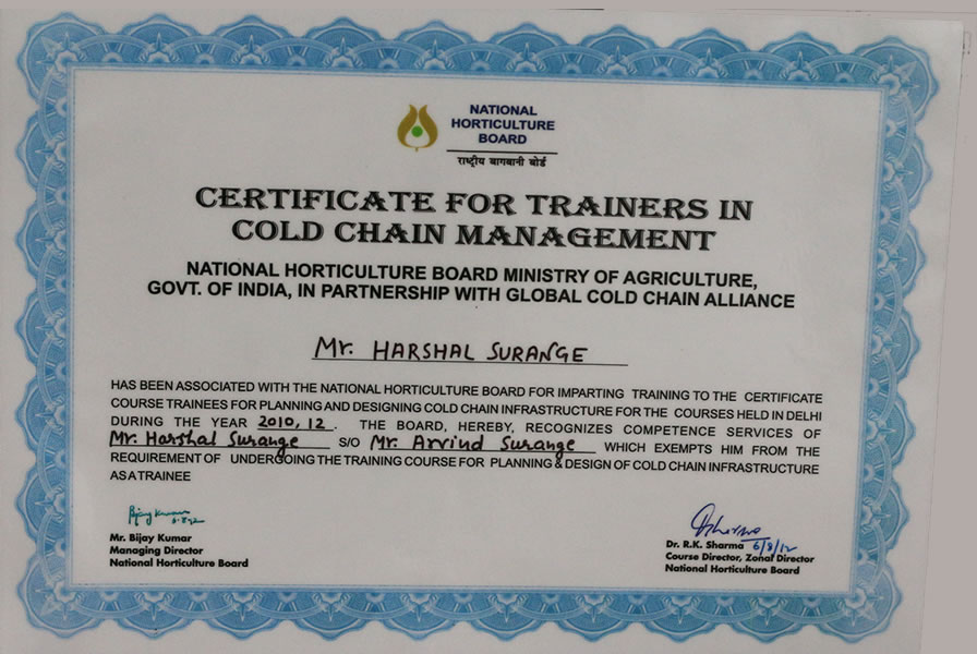trainer for NHB and GCCA programs