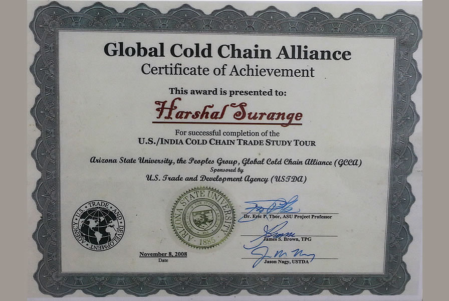 US-India Cold Chain Trade Study Tour