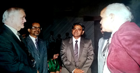 Billy Mannings, R.V. Simha and Dr. Prem Jain